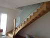 escalier en bois et garde-corps en verre 1