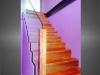 escalier marches bois garde-corps verre et bois vue 2