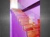 escalier marches bois garde-corps verre et bois vue 4