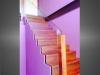 escalier marches bois garde-corps verre et bois