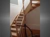 escalier marches et garde-corp en bois 2